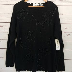NWT Vintage beaded sweater L